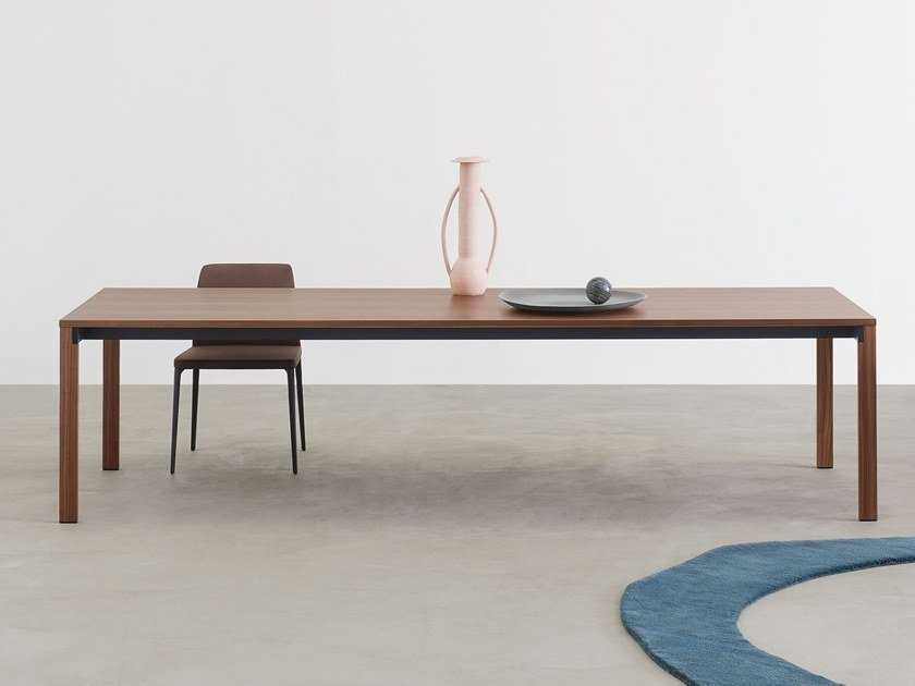 Rectangular wooden table BEAM | Wooden table by Desalto