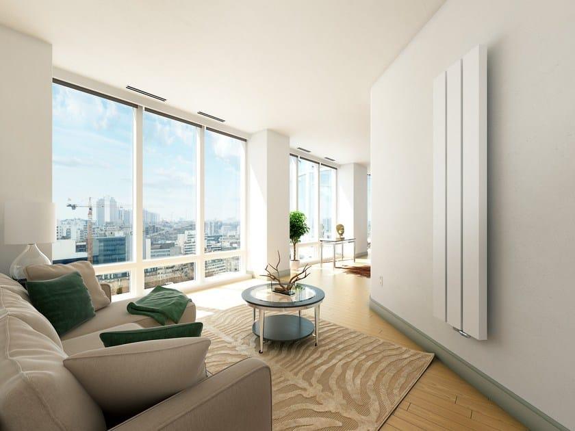Vertical wall-mounted aluminium radiator BEAMS by VASCO