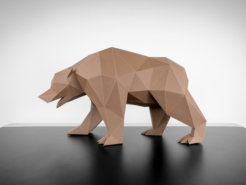 Paper sculpture BEAR by Papertrophy