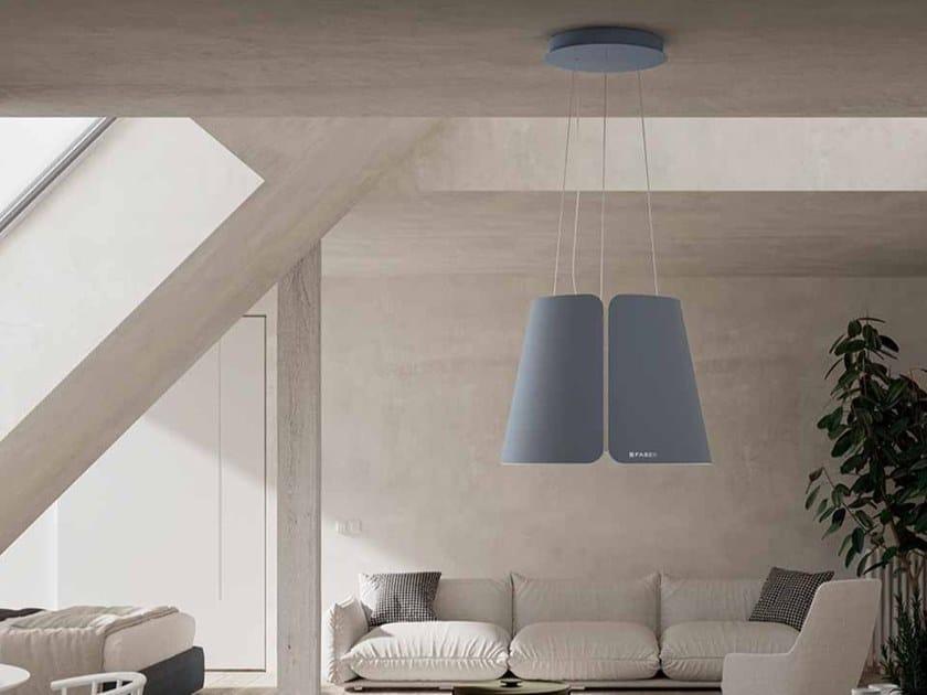 Cappa ad isola con illuminazione integrata BEAT by FABER