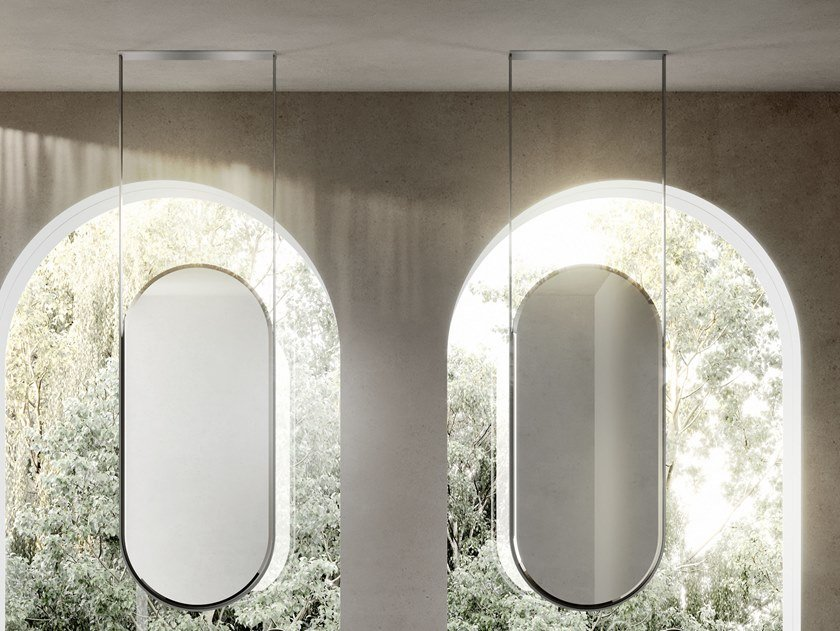 Double-sided oval ceiling mirror BEAUTY | Mirror by Ideagroup