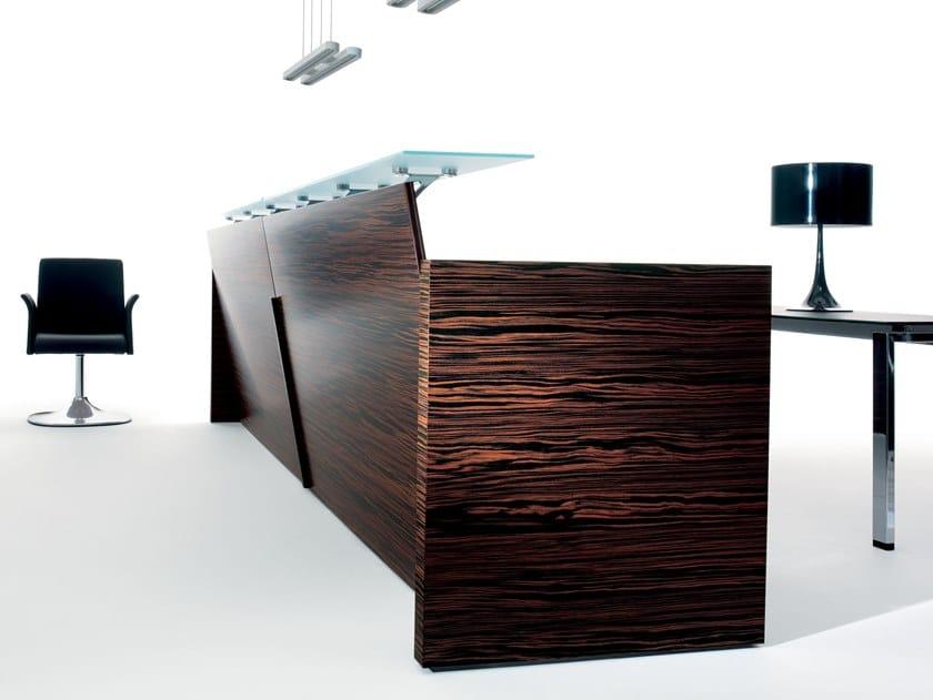 Wooden Office reception desk BEAUTY TOUCH | Office reception desk by Manerba