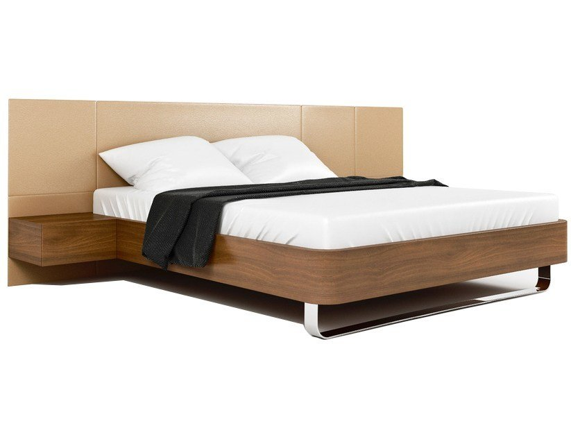 Double bed with upholstered headboard BED#1 by Max Kasymov