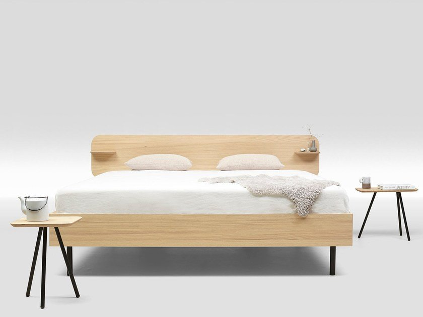 Multi-layer wood double bed FRAME OAK TYPE 1 by Loof