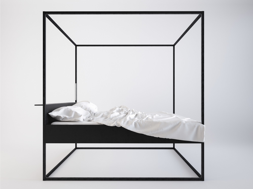 Painted metal canopy bed BED LED by Filodesign  sc 1 st  Archiproducts & Painted metal canopy bed BED LED By Filodesign design Marco Pecchio