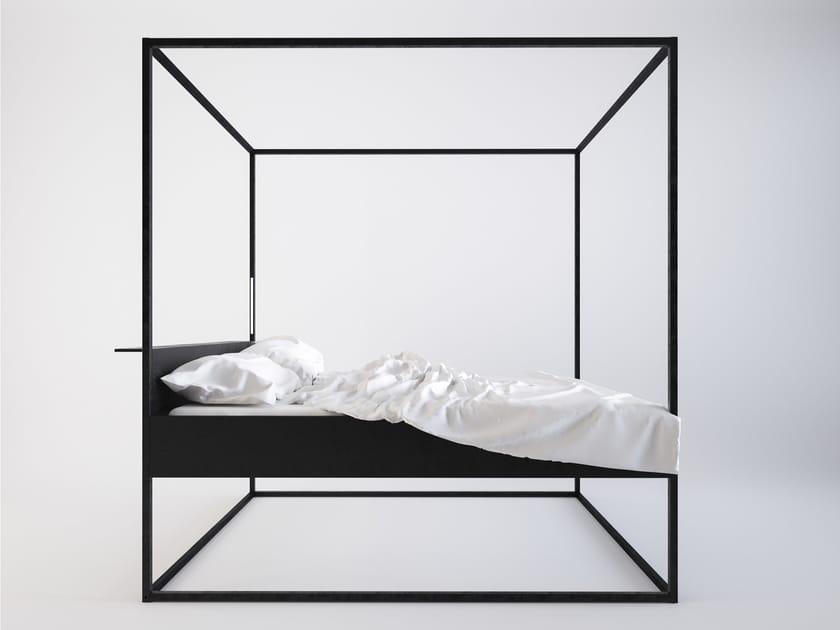 Letto in metallo verniciato a baldacchino BED LED by Filodesign