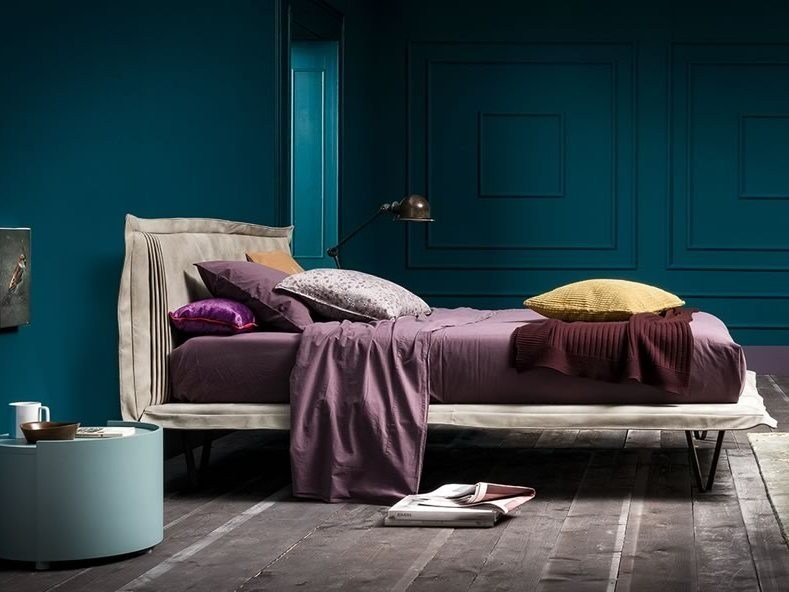 Leather double bed BED ONE by Dall'Agnese