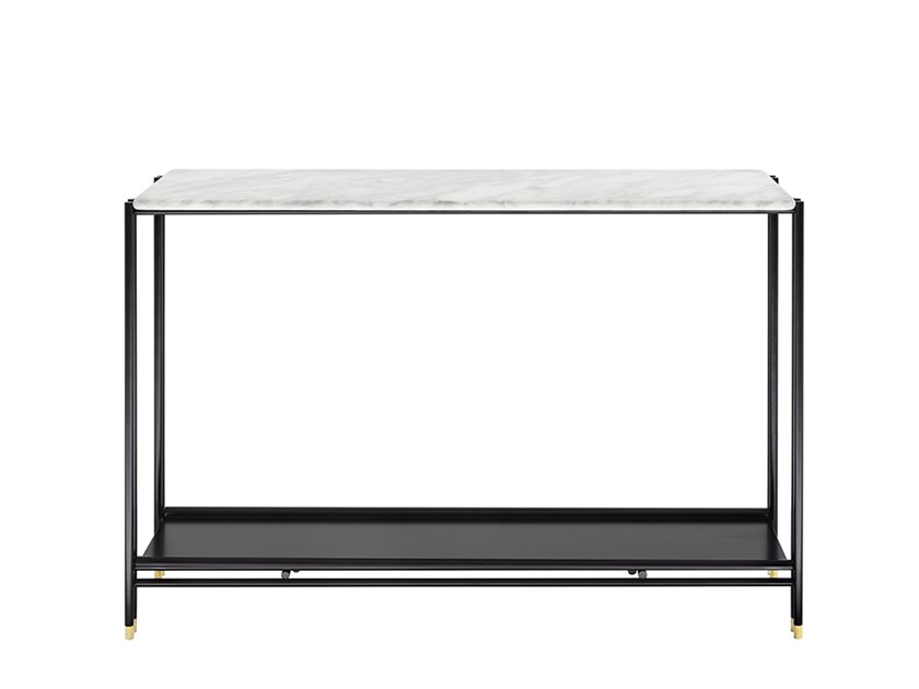 Rectangular marble side table BEEN | Rectangular coffee table by HC28