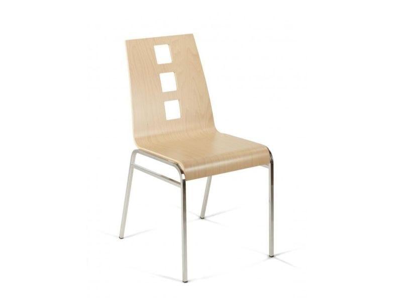 Sedia impilabile in legno BEEN by Vela Arredamenti