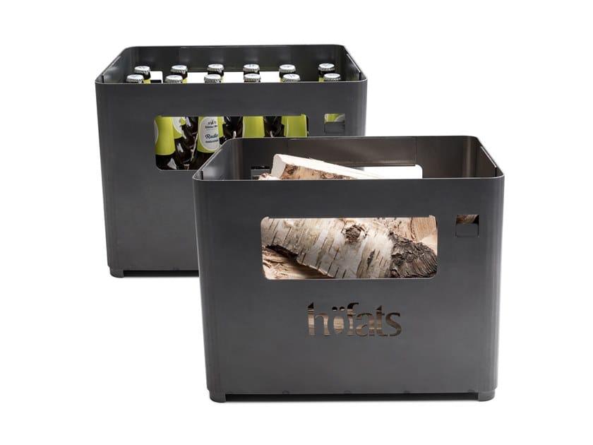 Corten™ barbecue / bottle rack BEER BOX by höfats