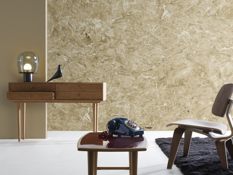 Washable panoramic wallpaper with marble effect BEIGE BRECCIA ONICIATA MARBLE | Panoramic wallpaper by Koziel