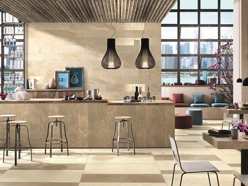 Rev tement de sol mur en gr s c rame effet marbre pour for Type de revetement de sol interieur