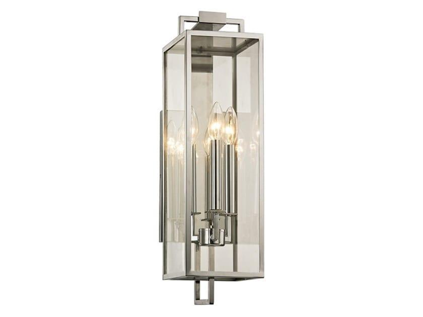 Lampada da parete per esterno in acciaio inox e vetro BEKHAM by Hudson Valley Lighting