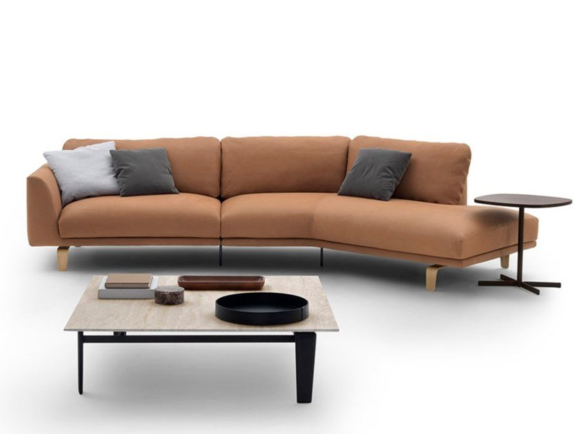 Sectional leather sofa BEL AIR | Leather sofa by arflex
