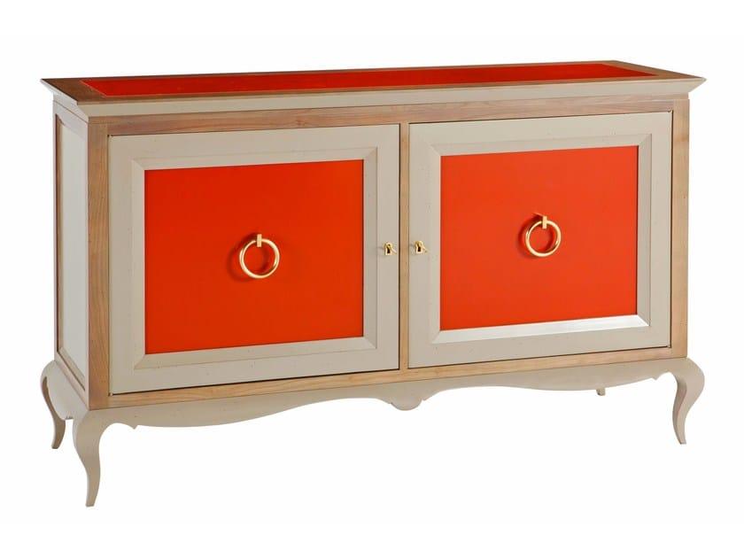buffet en bois avec portes bel ami by roche bobois. Black Bedroom Furniture Sets. Home Design Ideas