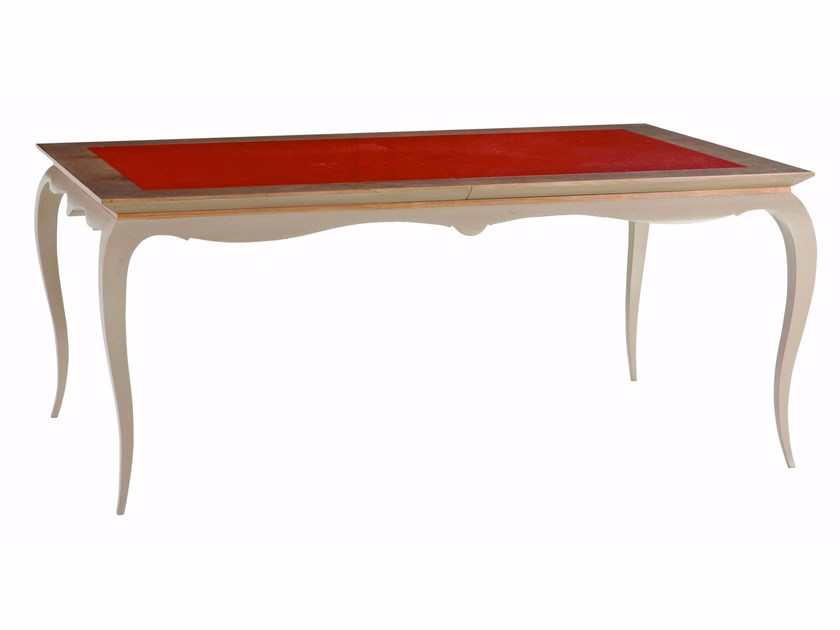 Extending rectangular wooden dining table BEL- AMI by ROCHE BOBOIS