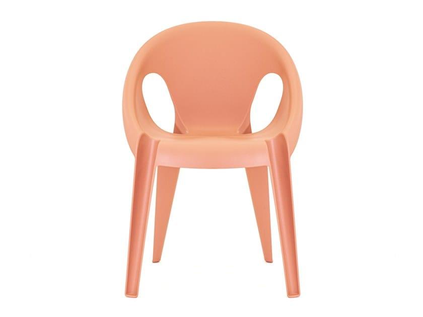 Sedia impilabile in polipropilene riciclato BELL CHAIR by Magis