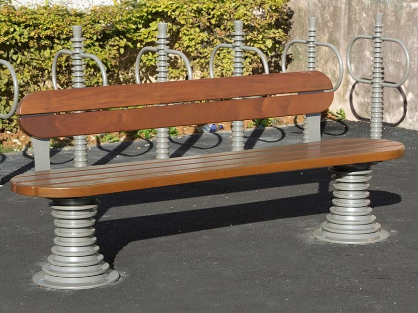 Wooden Bench with back BELL'ORA | Bench with back by GHM-ECLATEC