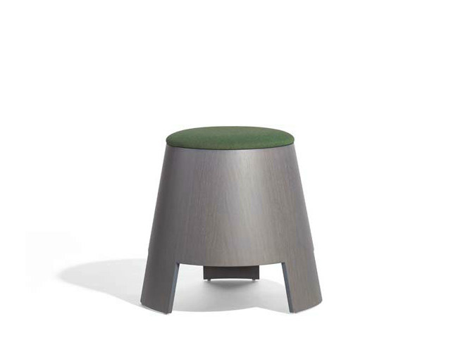 Wooden pouf BELL   Pouf by Potocco