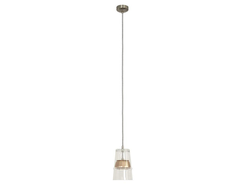 LED blown glass pendant lamp BELLE D'I 20 TECH by Hind Rabii