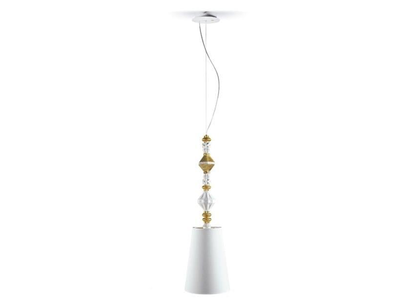 Lampada a sospensione a LED in porcellana BELLE DE NUIT II | Lampada a sospensione by Lladró