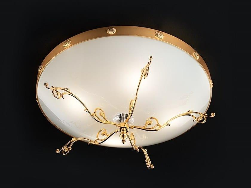 Direct light glass ceiling light BELLE EPOKE PL4 by Masiero