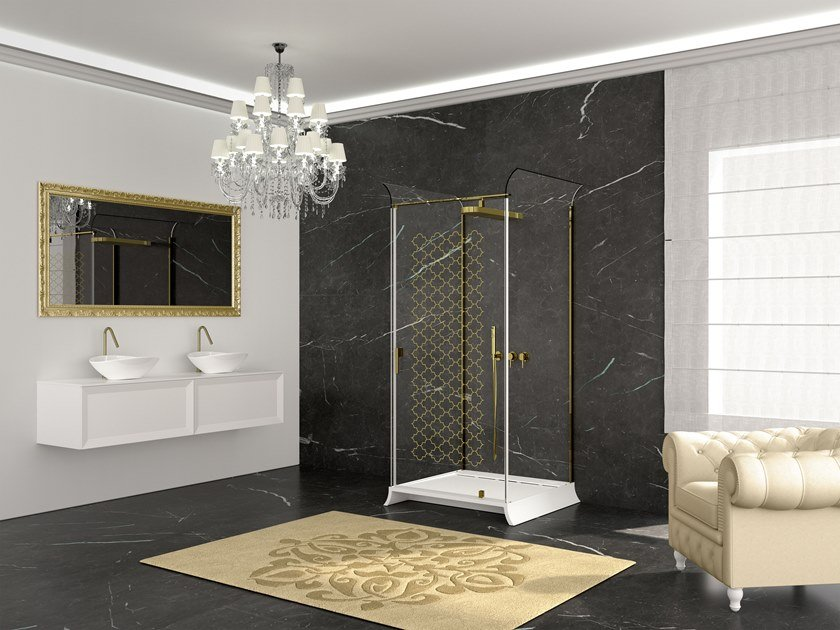 Rectangular shower cabin with tray BELLE-EPOQUE by RELAX