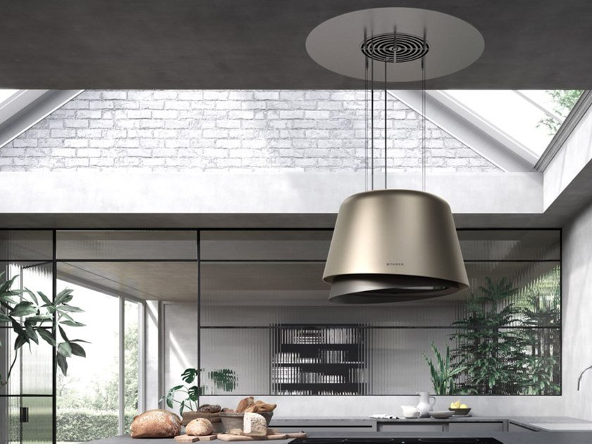 Ceiling-mounted up&down island hood BELLE PLUS by FABER
