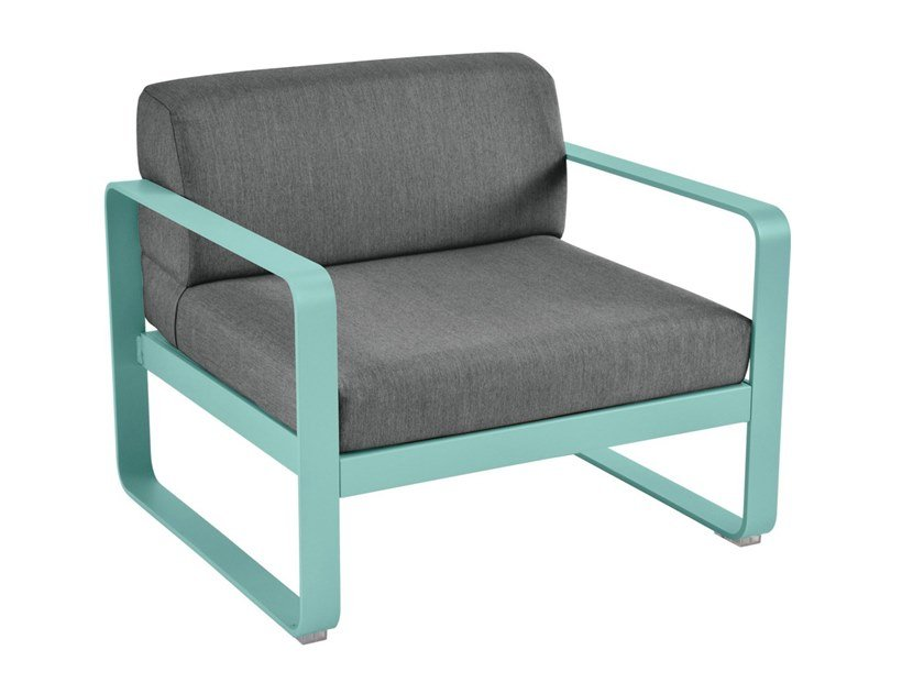 Garden armchair with armrests BELLEVIE | Garden armchair by Fermob