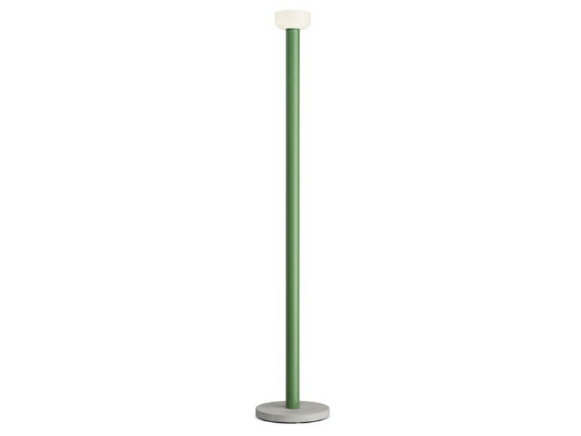 LED glass and aluminium floor lamp BELLHOP FLOOR by Flos