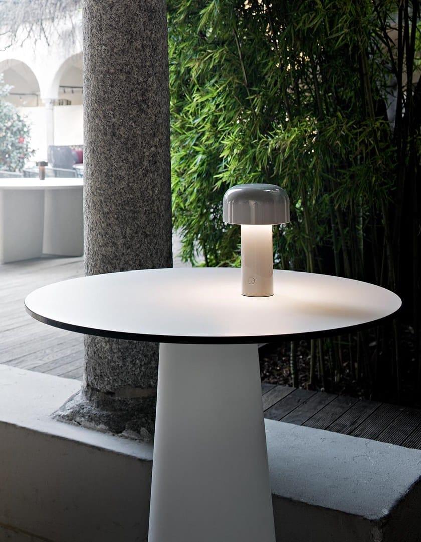 Lampe de Table Rechargeable Portable Bellhop Rouge Brique