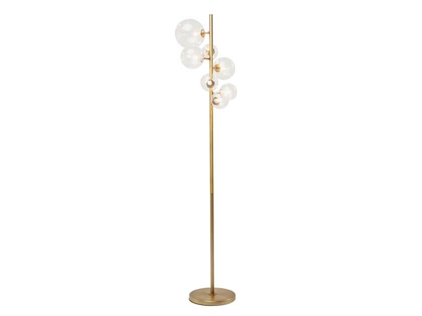 Glass and steel floor lamp BELLO SETTE   Floor lamp by KARE-DESIGN