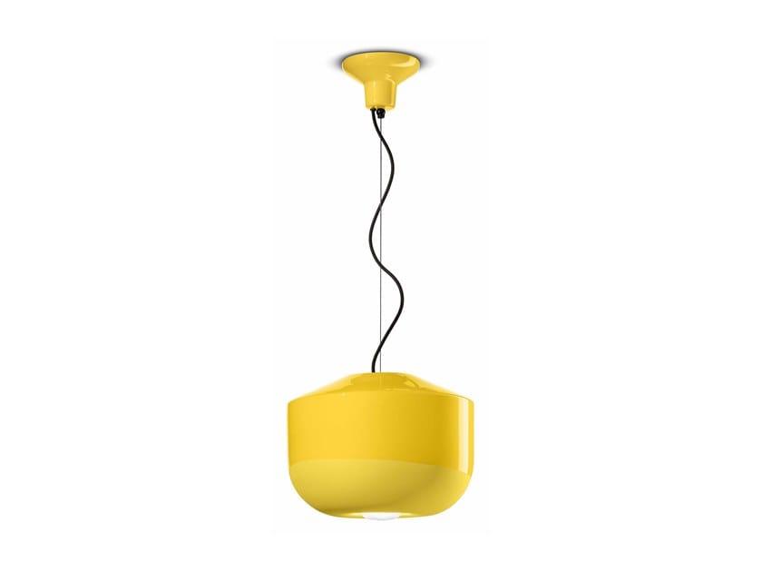Lampada a sospensione in ceramica BELLOTA C2541 by FERROLUCE