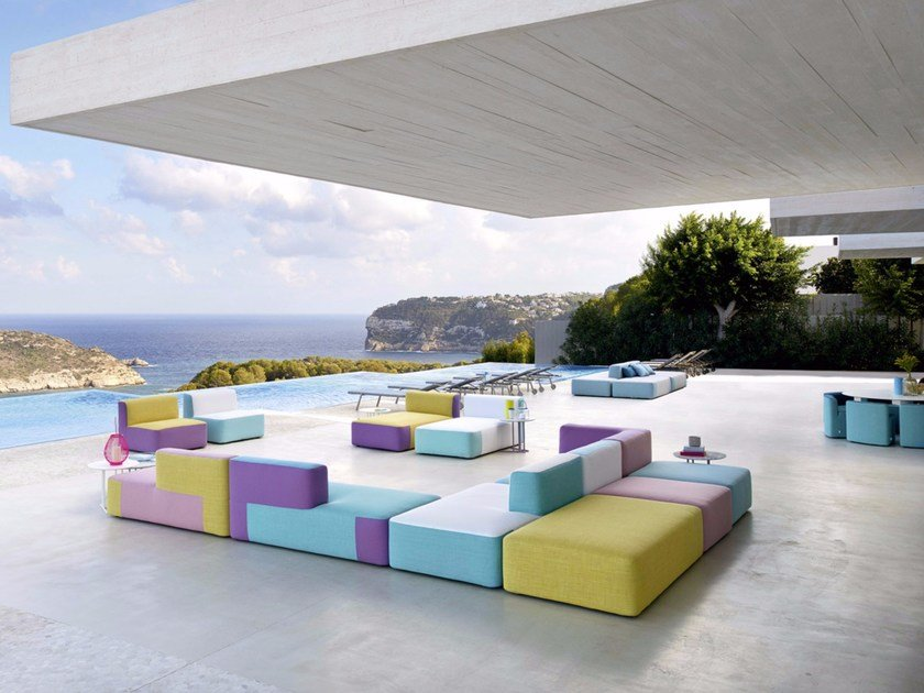 Sectional fabric sofa BELT | Sectional sofa by Varaschin