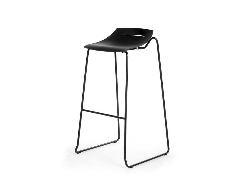 Sled base polypropylene stool BEN 331D by Mara