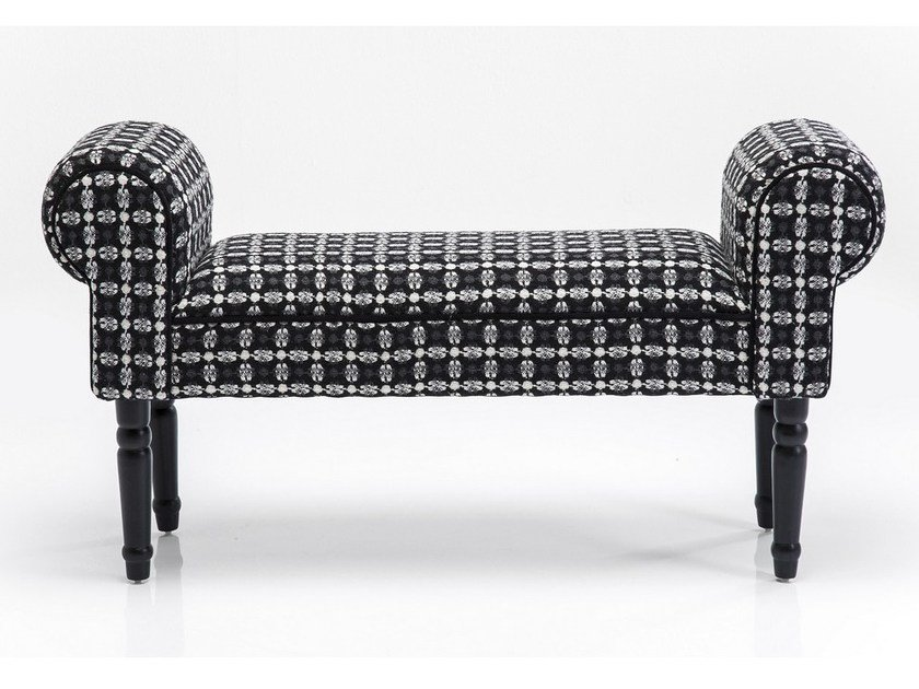 Upholstered fabric bench WING ICEFLOWER by KARE-DESIGN