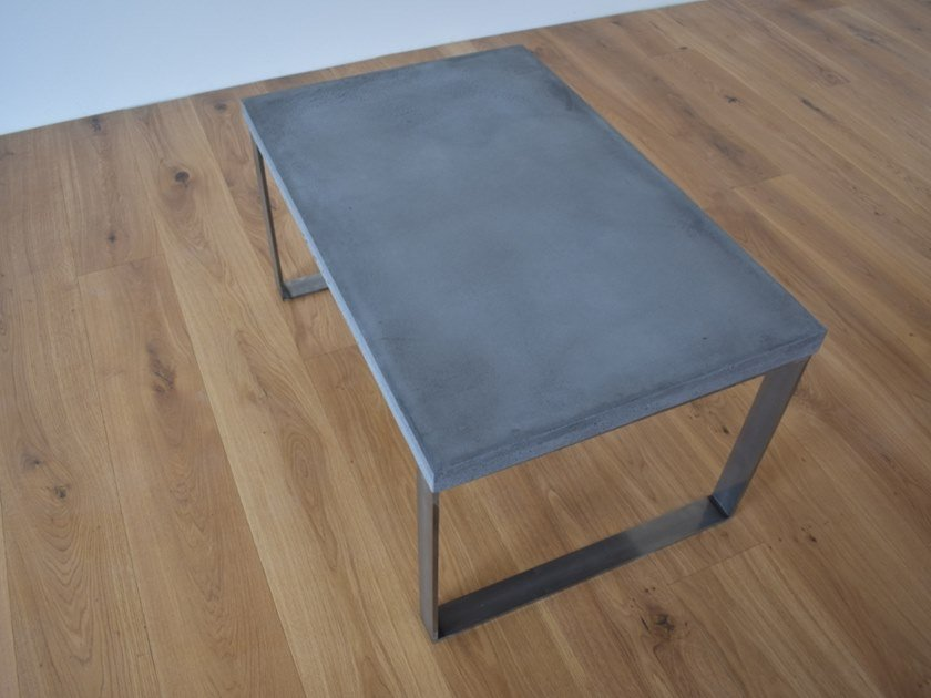 Rectangular concrete coffee table BEND by betton