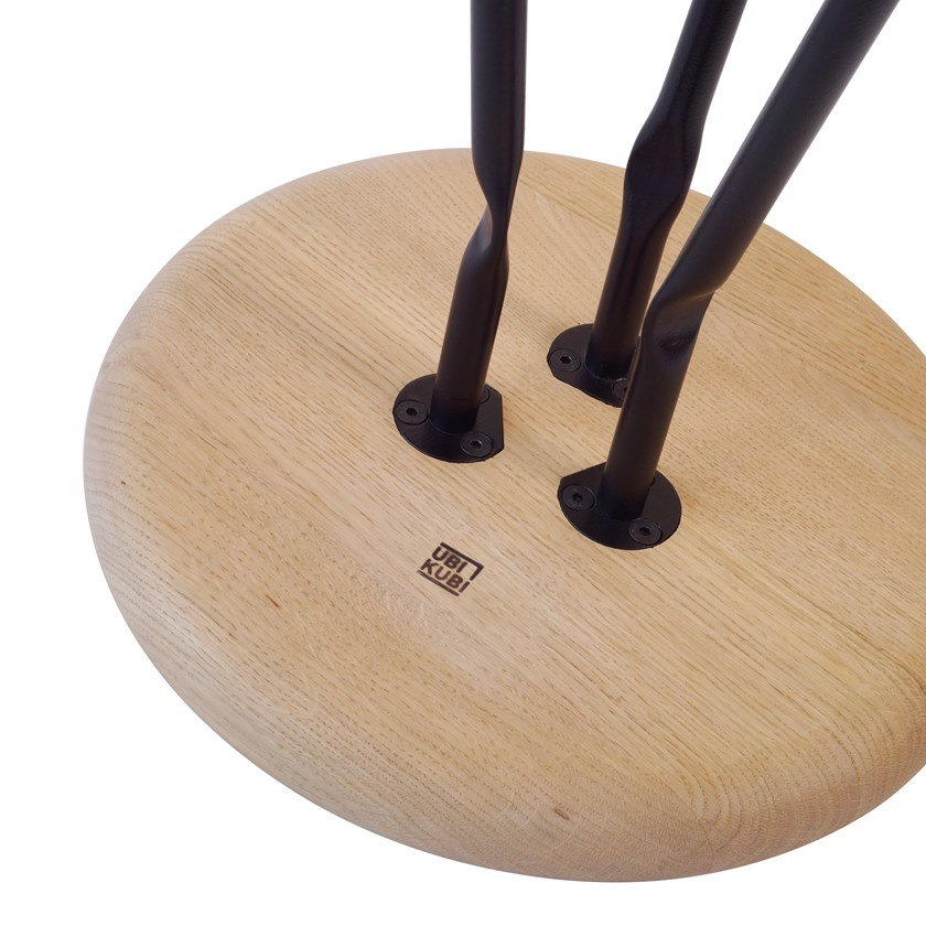 Ubikubi Rotondo Table Occasional Tavolino Frassino Alto In Bend XP8nk0wO