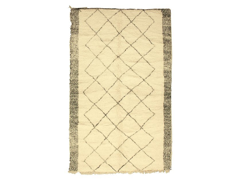 Rectangular wool rug with geometric shapes BENI OURAIN TAA1073BE by AFOLKI
