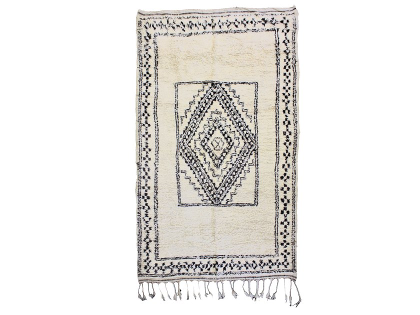 Rectangular wool rug with geometric shapes BENI OURAIN TAA892BE by AFOLKI