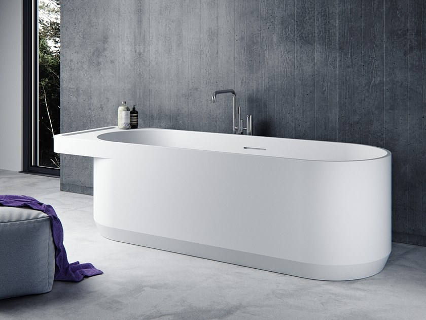 Oval Solid Surface bathtub BENITIER-BT01 by Le Projet