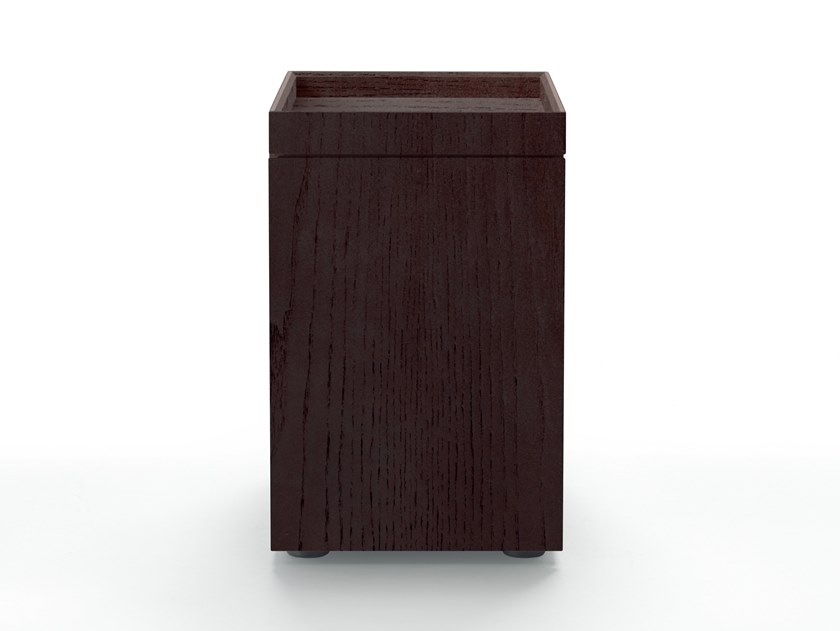 Solid wood bedside table with drawers BENJAMIN | Bedside table by Mood by Flexform