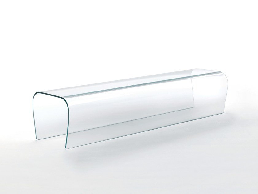 Panca in cristallo BENT GLASS BENCH by Glas Italia