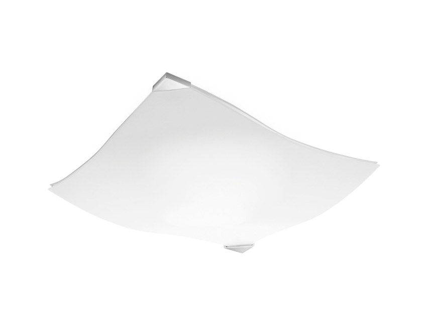 Satin glass wall lamp / ceiling lamp BENT | Wall lamp by Estiluz