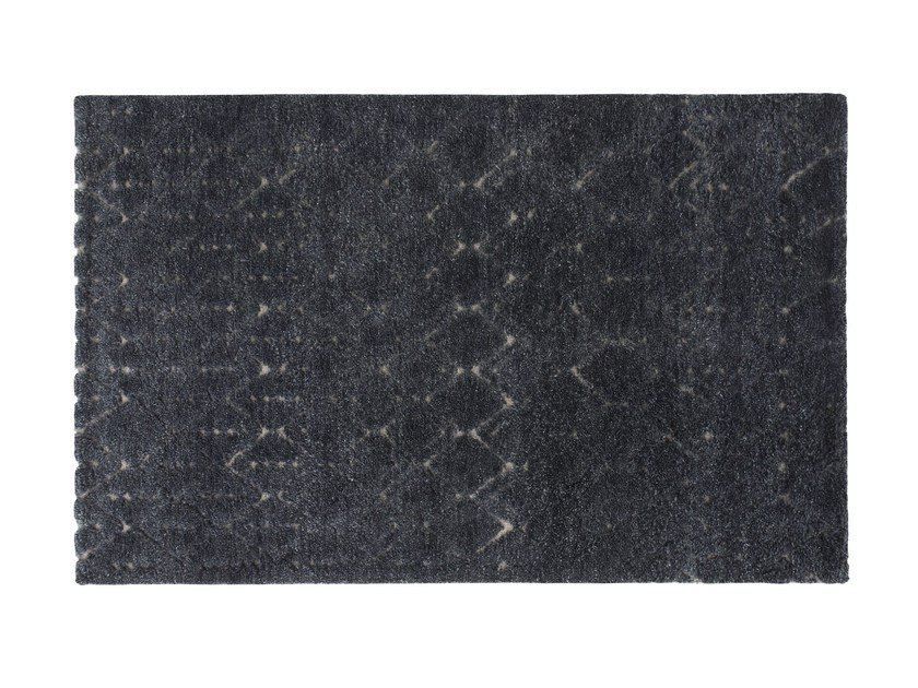 Patterned rectangular wool rug BEREBER by GAN