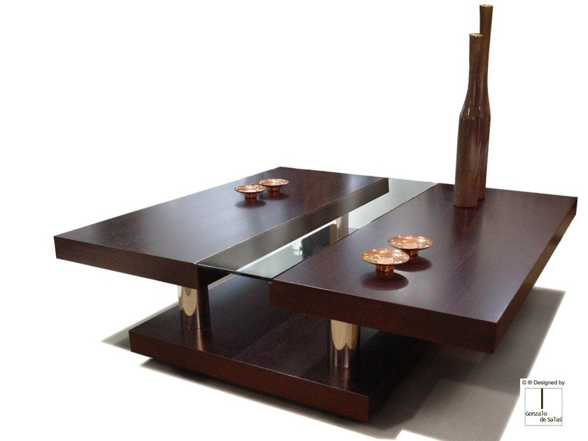 Square coffee table BERENICE by Gonzalo De Salas