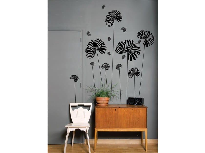 Vinyl wall sticker with floral pattern BERLINGOT BLACK by Moustache