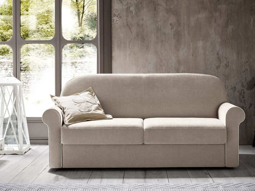 Fabric sofa bed with removable cover BERNIE by Felis
