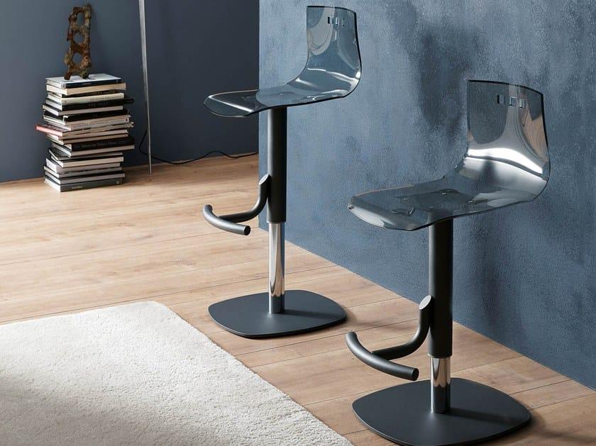 Vitrex stool with gas lift BERNIE by Ozzio Italia