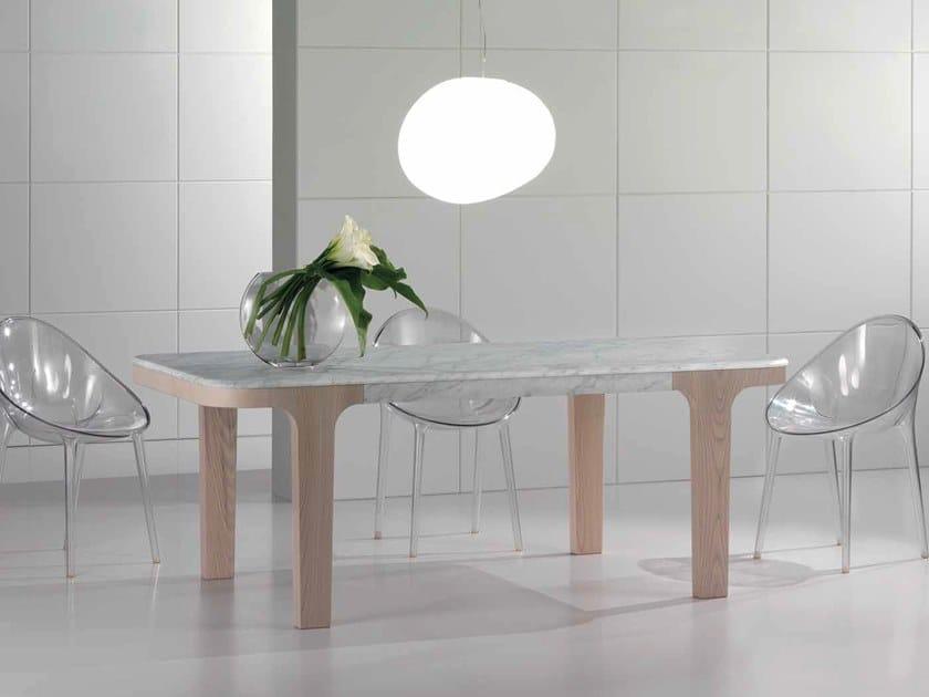 Rectangular Carrara marble table BESADOR by International Marmi